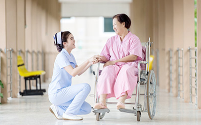 Medical professional with a patient